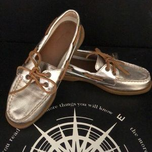 Sperry Top-sider Women's Gold Boat Shoes NWOT
